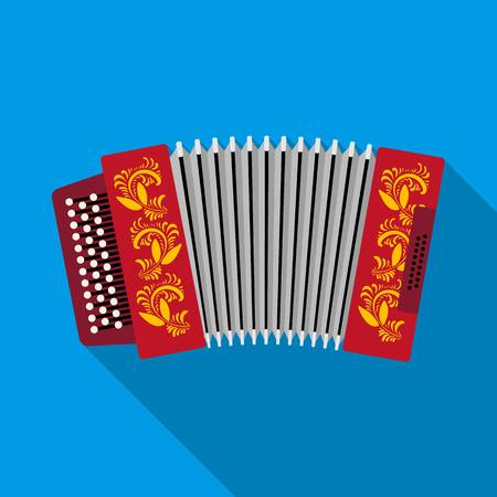 76351372 classical bayan accordion or harmonic icon in flat style isolated on white background russian countr